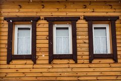 Three of wooden windows royalty free stock image
