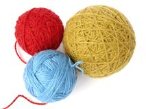 Three wool balls Stock Photo