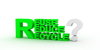 Three words together recycle, reduce , reduce. Royalty Free Stock Images
