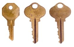 Three worn office keys Royalty Free Stock Image