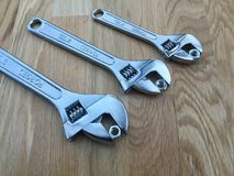 Three wrenches Royalty Free Stock Photography