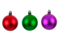 Three xmas baubles Royalty Free Stock Photo