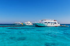 Three yacht at sea Royalty Free Stock Image