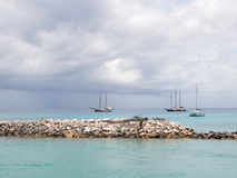 Three yachts Stock Photo