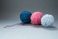 Three Yarn Balls Royalty Free Stock Image