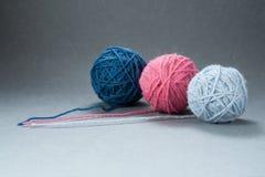 Three Yarn Balls royalty free stock image
