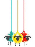 Three Yarn Sheep Stock Photos