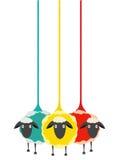 Three Yarn Sheep Stock Photos
