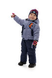 Three-year boy in winter clothes Stock Photography