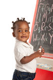 Three Year Old African American Girl Stock Photo