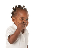 Three Year Old African American Girl Royalty Free Stock Image