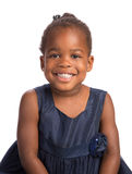 Three Year Old African American Girl Heahshot Portrait Royalty Free Stock Photography