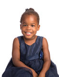 Three Year Old African American Girl Heahshot Portrait Stock Photos