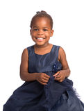 Three Year Old African American Girl Heahshot Portrait Stock Images
