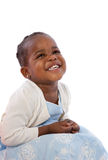 Three Year Old African American Girl Sitting Stock Images