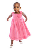 Three Year Old African American Girl Standing Royalty Free Stock Photos