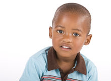 Three year old black boy closeup Royalty Free Stock Image