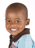 Three year old black boy smiling happily Stock Images