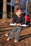 Three-Year Old Girl On A Swing Royalty Free Stock Image