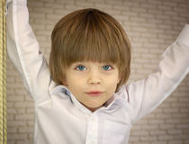 Three-year-old pretty boy Royalty Free Stock Photography