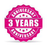 Three years anniversary vector icon. Illustration Stock Image