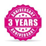 Three years anniversary vector icon. Illustration stock illustration