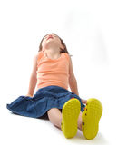 Three years old girl sun-bathing Stock Images