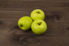 Three yellow apples Royalty Free Stock Photo