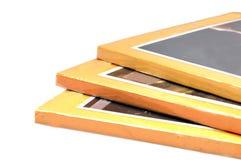 Three yellow books Royalty Free Stock Photos