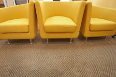 Free Three Yellow Chairs Stock Images - 4379394
