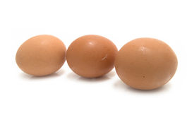 Three yellow chicken eggs Royalty Free Stock Images