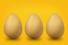 Three yellow eggs Royalty Free Stock Image