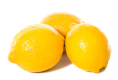 Three yellow lemons Royalty Free Stock Photography