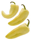 Three yellow peppers Royalty Free Stock Photos