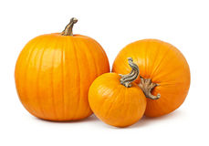 Three yellow pumpkin Stock Photos