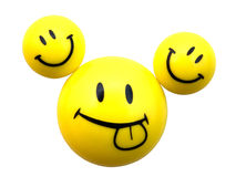 Three yellow smiley Royalty Free Stock Image