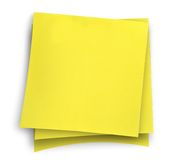 Three yellow sticky notes Royalty Free Stock Photo