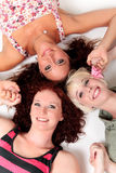 Three young attractive women Royalty Free Stock Images