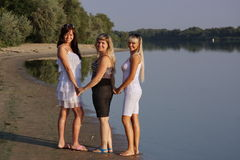Three young beautiful girls Royalty Free Stock Photo
