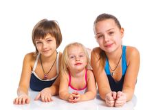 Three young beautiful girls Stock Image