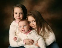 Three young beautiful sisters Royalty Free Stock Images
