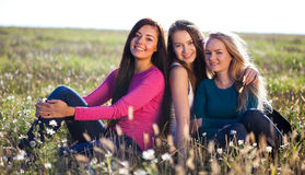 Three young beautiful woman Royalty Free Stock Images