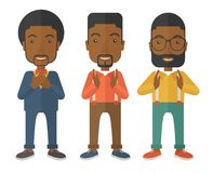 Three young black handsome businessmen Royalty Free Stock Images