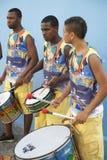Three Young Brazilian Men Drumming Pelhourinho Salvador Royalty Free Stock Photos