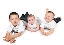 Three young brothers Royalty Free Stock Photos