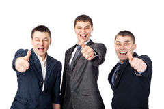 Three young  business men Royalty Free Stock Photo
