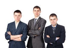 Three young business men Royalty Free Stock Images