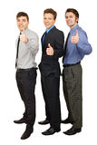 Three young business people Stock Image