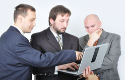 Three young businessmen Royalty Free Stock Images