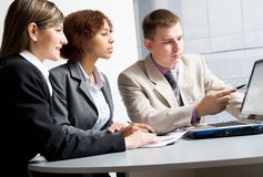 Three young businesspeople Stock Photos